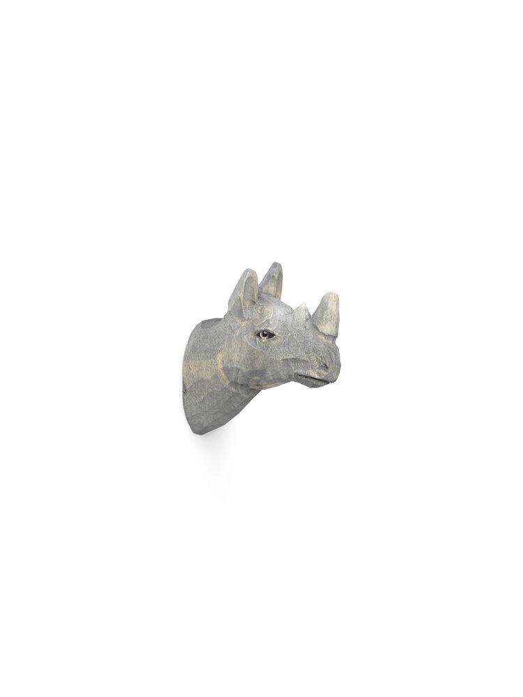 Image of   ferm Living Håndskåret dyrekrog - næsehorn