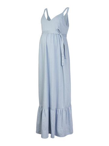 Amory midi denim kjole - Blue Denim