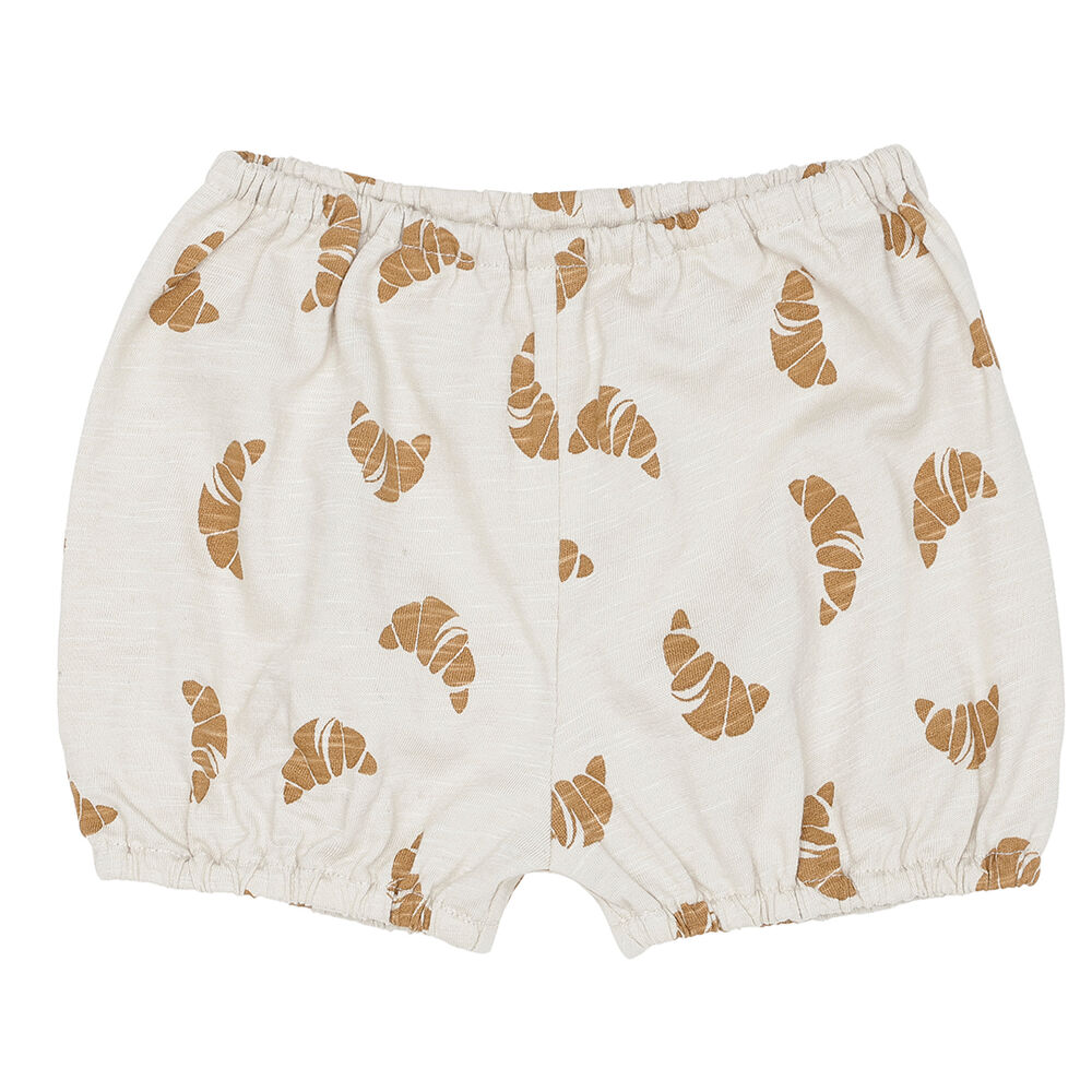 Image of Monsieur Mini Bloomers croissant print - Off White (89c95392-6969-4dd5-89e5-c776cbc436f6)