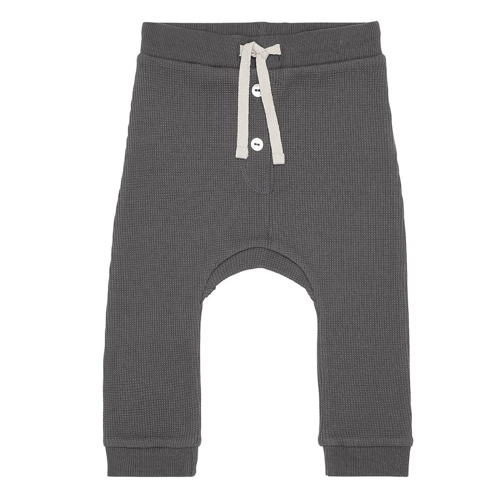 Image of Monsieur Mini Vaffelvævede leggings - Forged Iron (43a89ec8-ce70-4342-94ec-2e6f36325372)