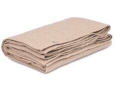 Quiltet sengetæppe - purple check