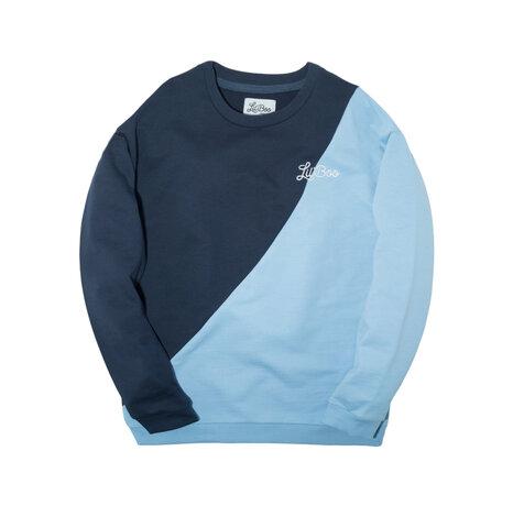 Sweatshirt - LYSEBLÅ/NAVY
