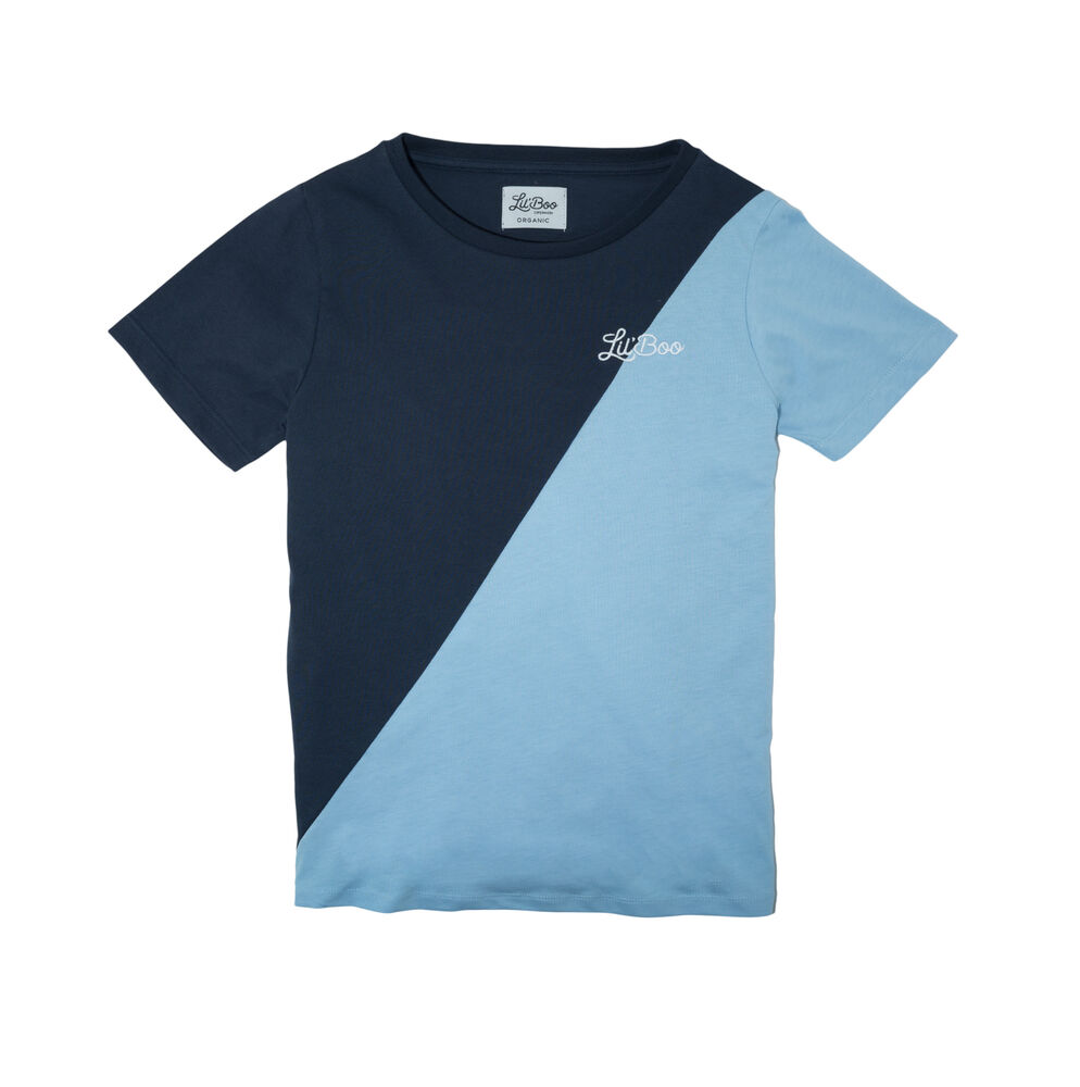 Image of Lil' Boo T-shirt - Lyseblå/Navy (0a376480-16c0-4d38-affb-d381ea45f95b)