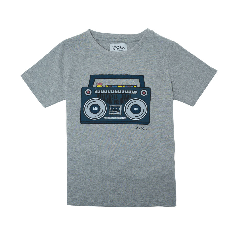 Image of Lil' Boo T-shirt - Lysegrå (1c3d70bf-df6e-492d-9d01-c6d8f0b81ff2)
