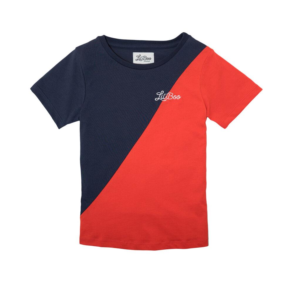 Image of Lil' Boo T-shirt - Rød/Navy (bdbae8c2-4807-48e5-90a8-eb6653927017)