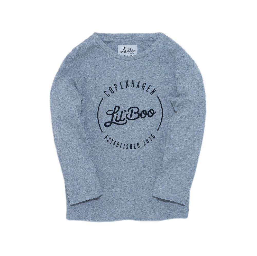 Image of Lil' Boo T-shirt langærmet - Lysegrå (e4424262-1b15-4b09-9097-dcc0d50bf51b)