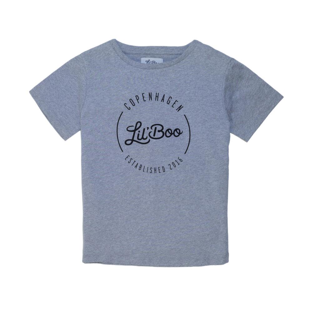Image of Lil' Boo T-shirt - Lysegrå (e06fe64a-4b1d-49a3-9af9-ebc8b1d1d593)