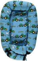 Babynest med traktor - blue grotto
