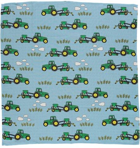 Stofble med traktor blue grotto