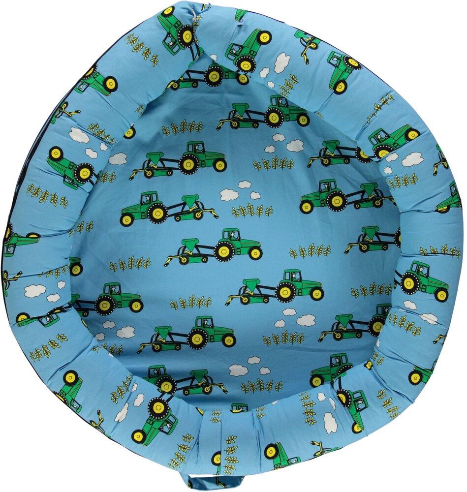 Småfolk Multi babynest med traktor - blue grotto - Babynest - Småfolk