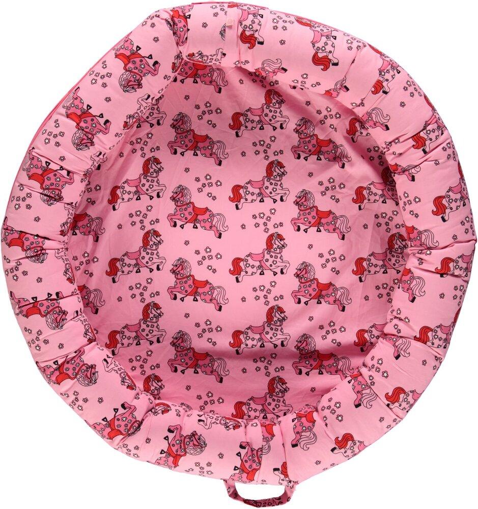 Småfolk Multi babynest med hest - sea pink - Babynest - Småfolk
