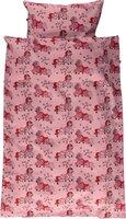 voksen sengesæt med heste - sea pink