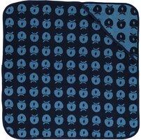Baby håndklæde med æbler - blue grotto
