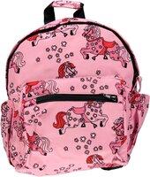 Børnehave taske med heste - sea pink