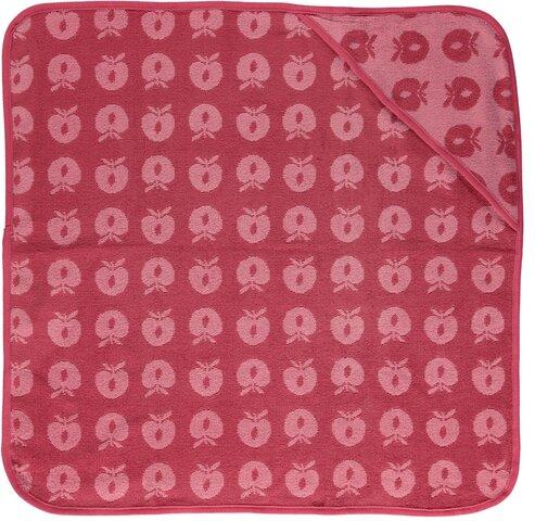 Baby håndklæde med æbler - sea pink