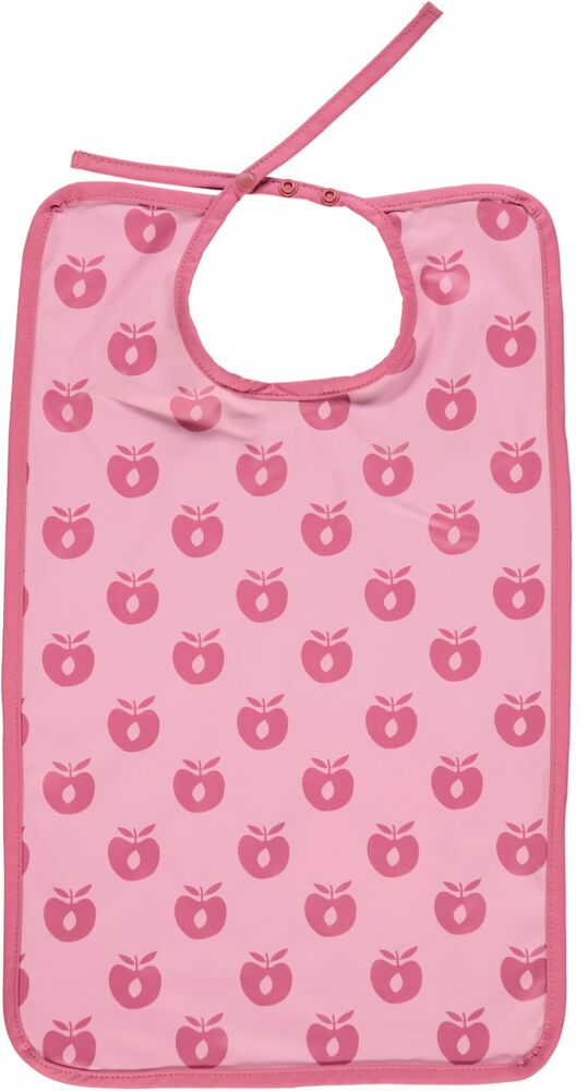 Småfolk Lang hagesmæk med æbler - sea pink