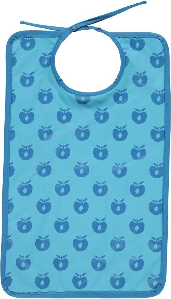 Småfolk Lang hagesmæk med æbler blue grotto