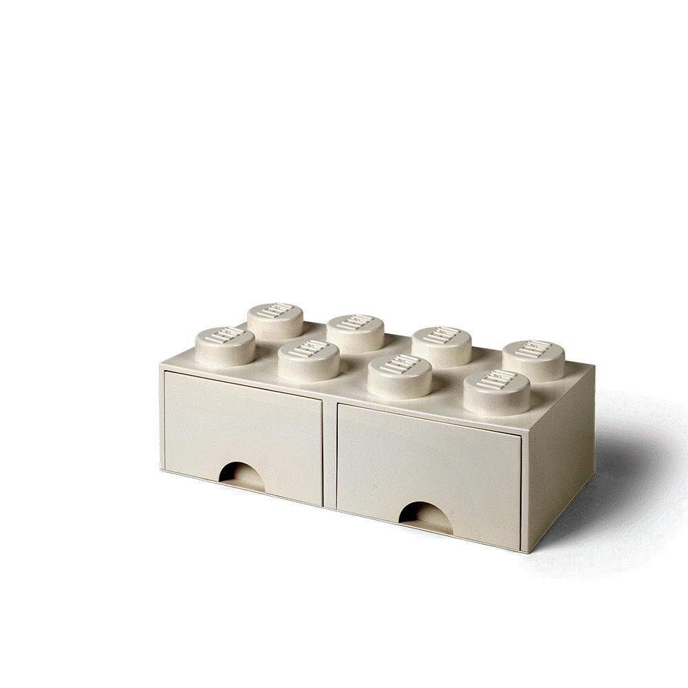 LEGO Storage LEGO Opbevaringsskuffe Brick 8 - Hvid - Opbevaring - LEGO Storage