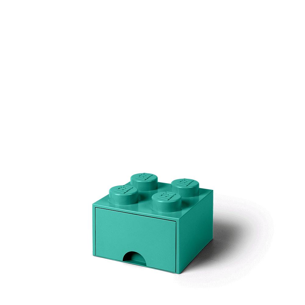 LEGO Storage LEGO Opbevaringsskuffe Brick 4 - Aqua Blå - Opbevaring - LEGO Storage