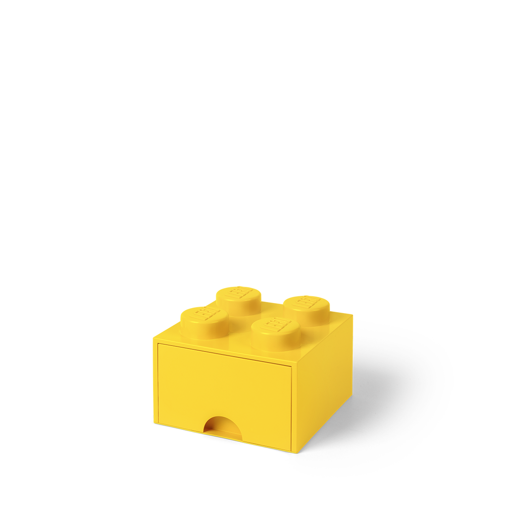 LEGO Storage LEGO Opbevaringsskuffe Brick 4 - Bright Gul - Opbevaring - LEGO Storage
