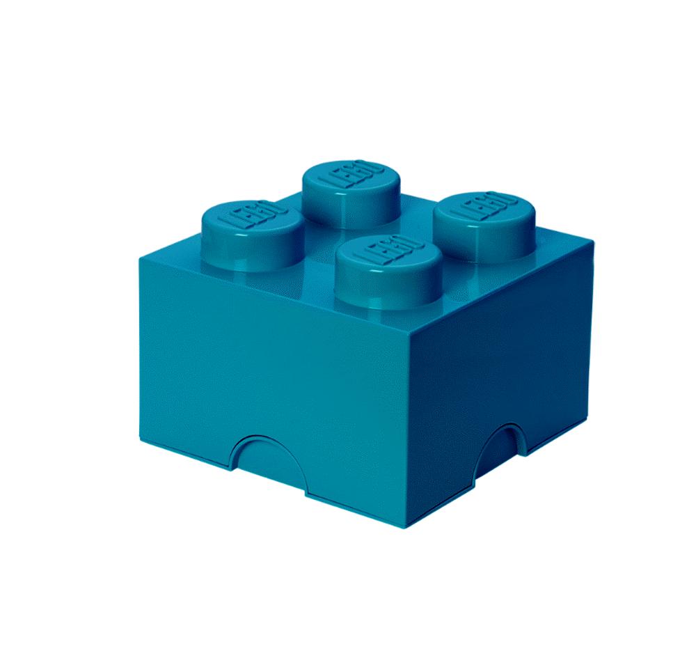 LEGO Storage Lego Opbevaringskasse 4 - Azur Blå - Opbevaring - LEGO Storage