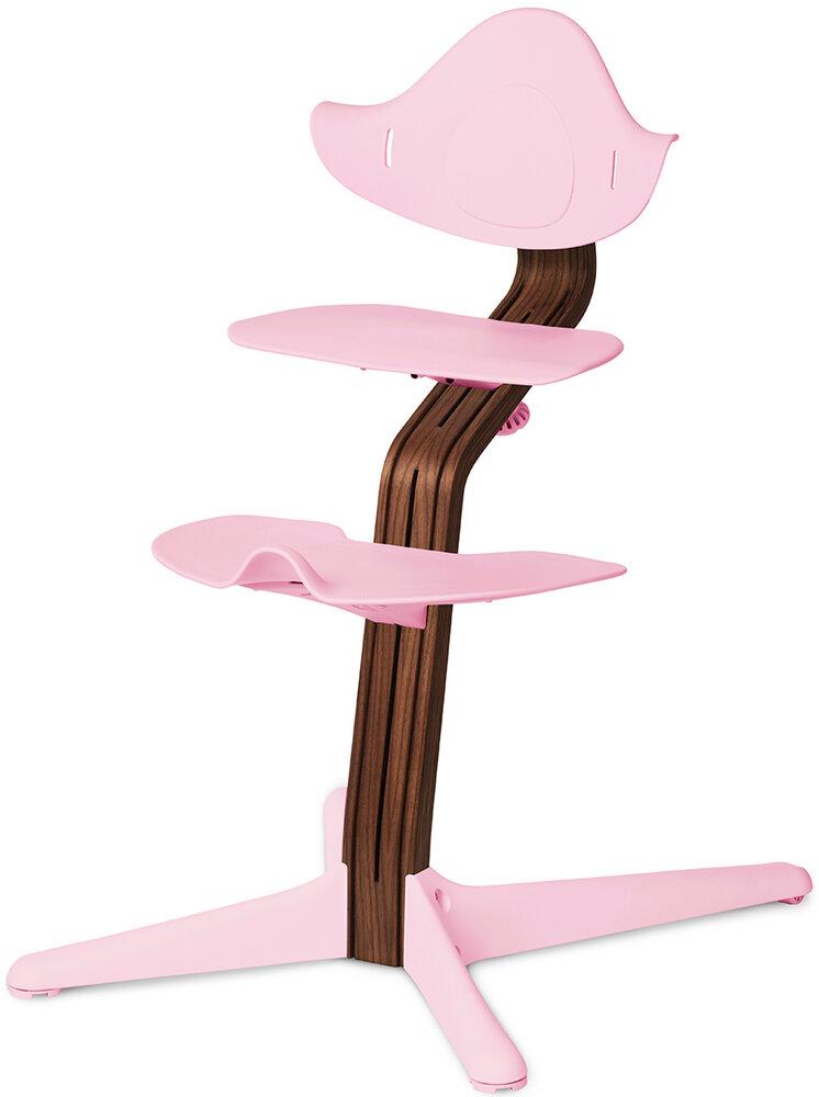 Image of   Nomi by Evomove Højstol Pale Pink m. Premium Valnød