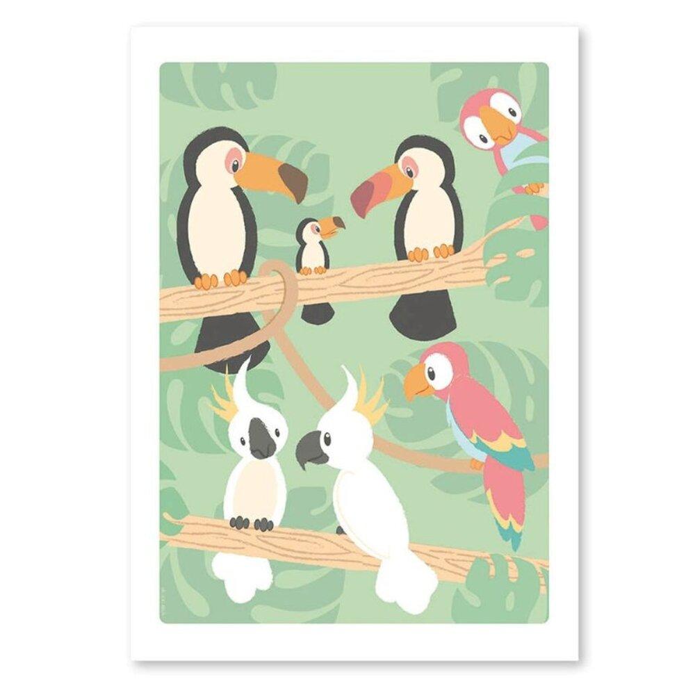 Studio Circus St.Circus Plakat - Fugle I Regnskov