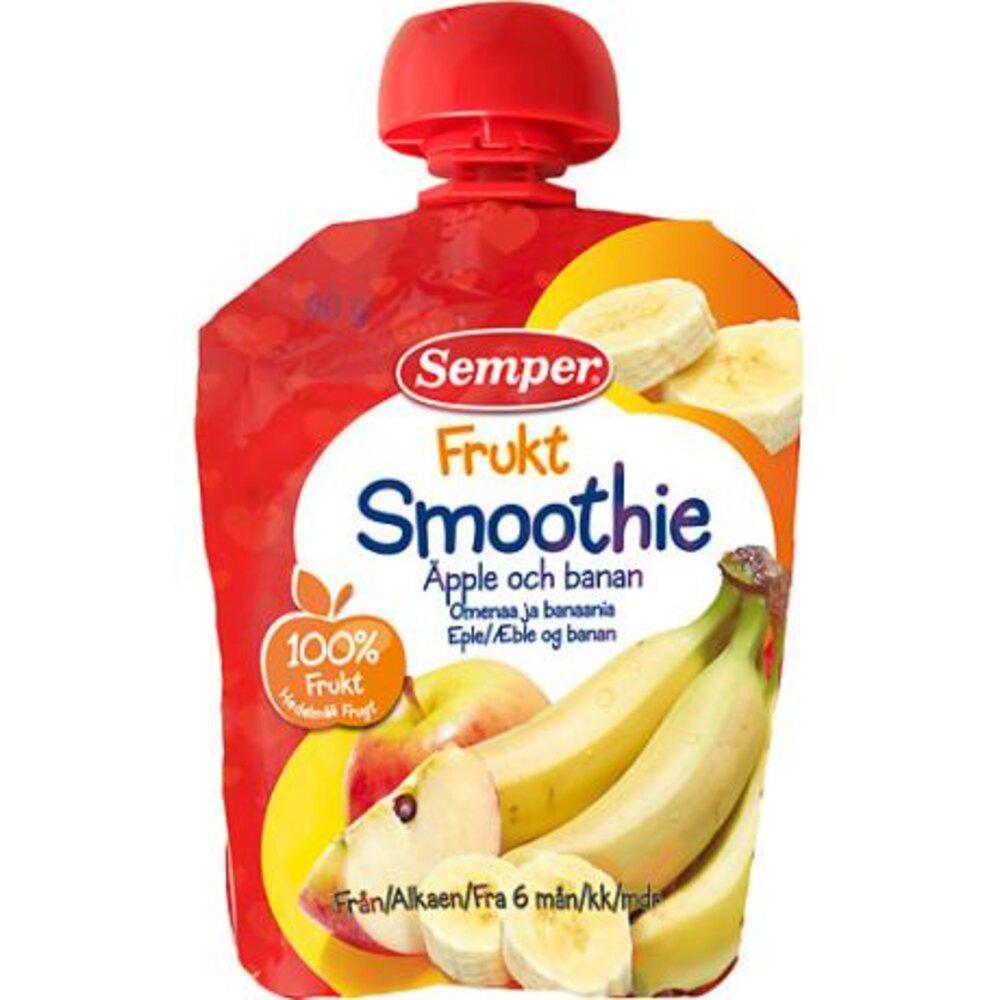 Image of Semper Smoothie, Æble/Banan (11c0f71a-53eb-4d47-8688-e53ef2958616)