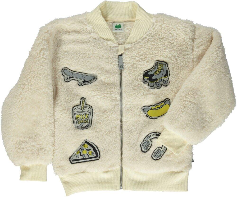 Småfolk Fleece Cardigan Med Lynlås - Cream199 - Overtøj - Småfolk