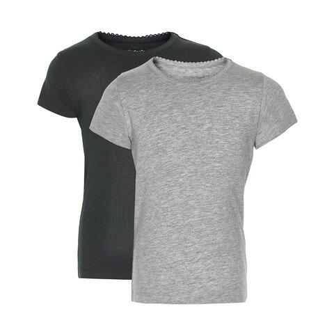 2 Pak Basic T-Shirt - Black/Grey/193