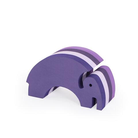 bObles elefant medium - multi lilla