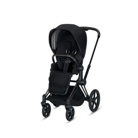 Priam Lux Seat Premium Black + Matt Black Stel