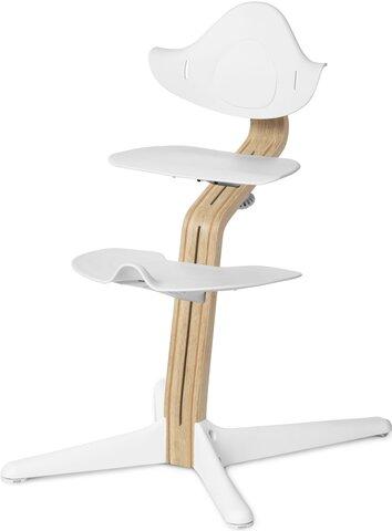 Højstol Hvid m. Lys Eg/Bøg