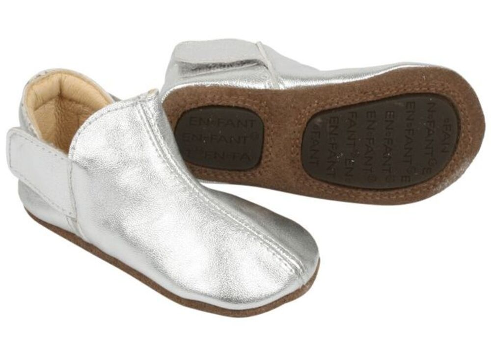 Image of   En Fant Adventure slipper 2 x velcro - -01 SILVER