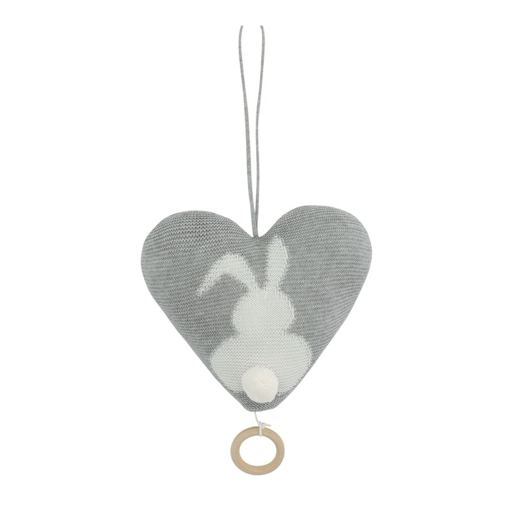 Image of   Vanilla Music Bunny Heart - Grey