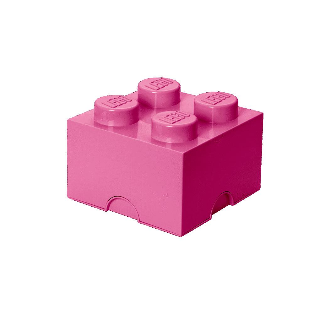 LEGO Storage Lego Opbevaringskasse 4 - Lys Pink - Opbevaring - LEGO Storage