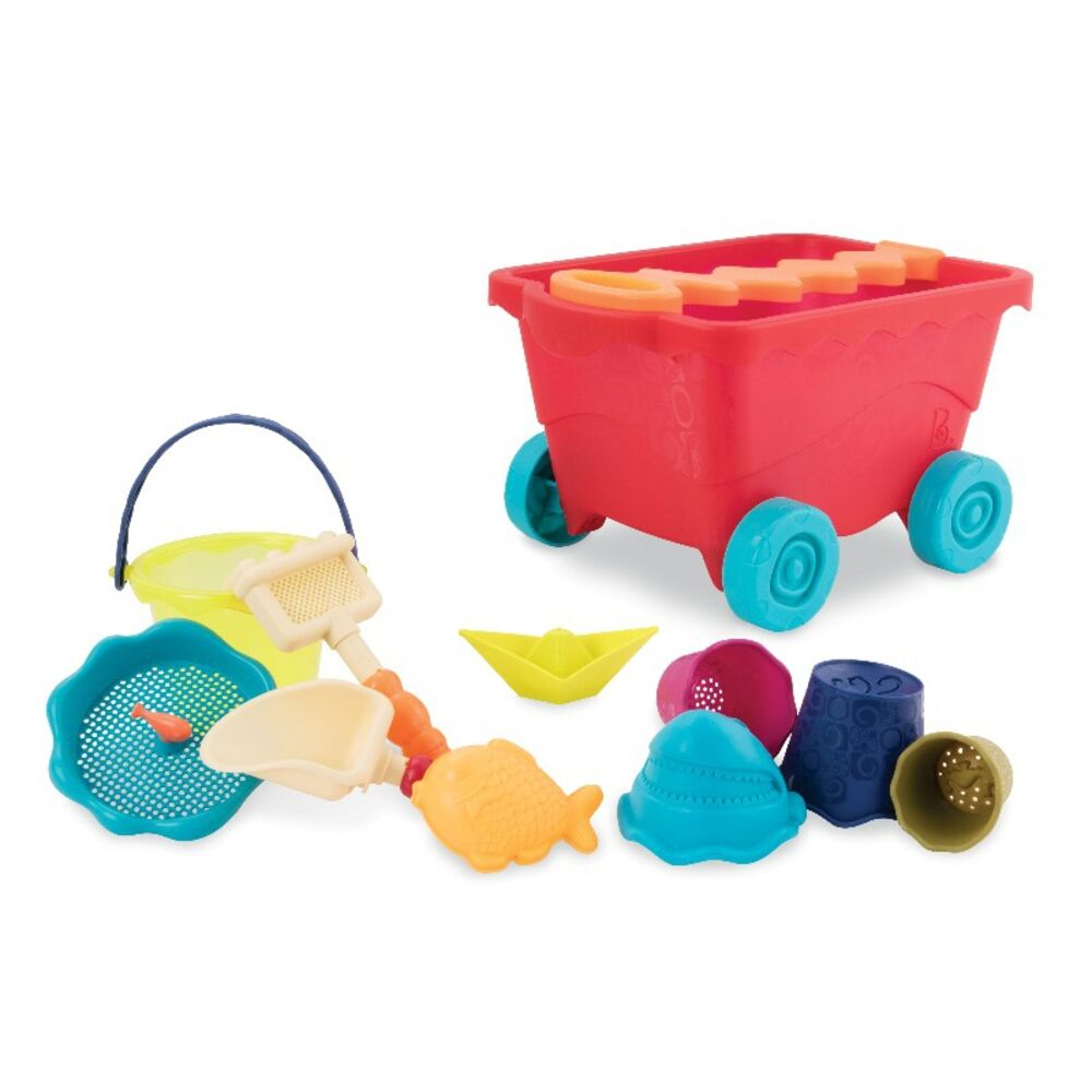 Image of   B Toys Wavy-Wagon - Rød