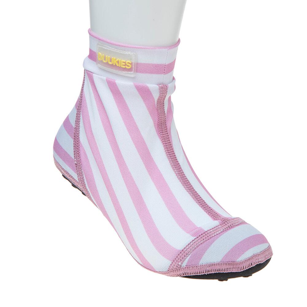 Image of   Duukies Strandsokker, Pink Striber