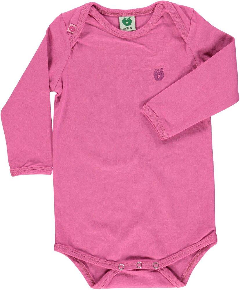 Småfolk Body Ensfarvet - Pink/044 - Bodyer - Småfolk