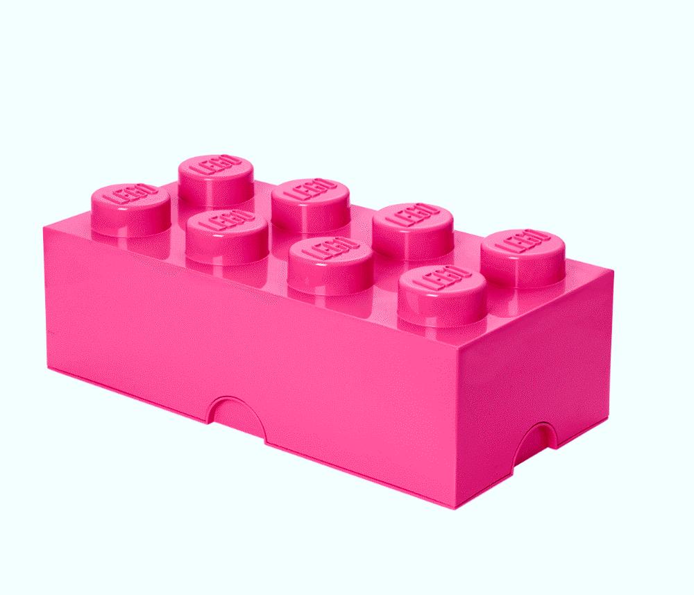 LEGO Storage Lego Opbevaringskasse 8 - Lys Pink - Opbevaring - LEGO Storage