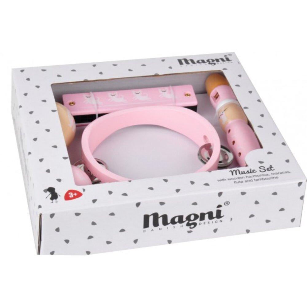 Magni Musiksæt Pink - Trælegetøj - Magni