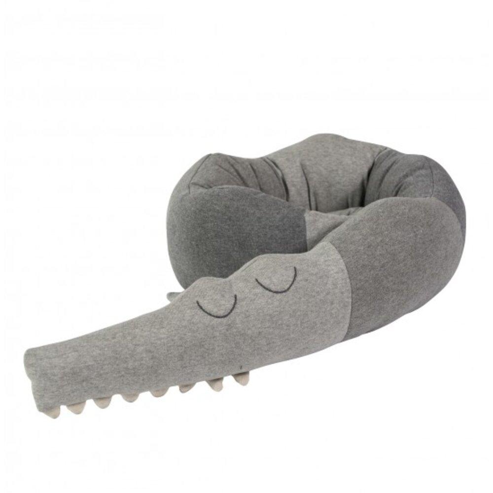 Image of   Sebra Krokodille Pude - Grey