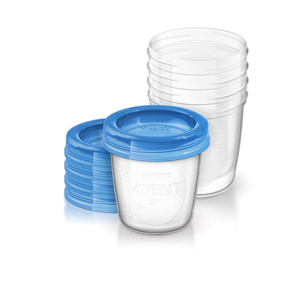 Philips Avent Opbevarings Kopper - 5 x 180 ml