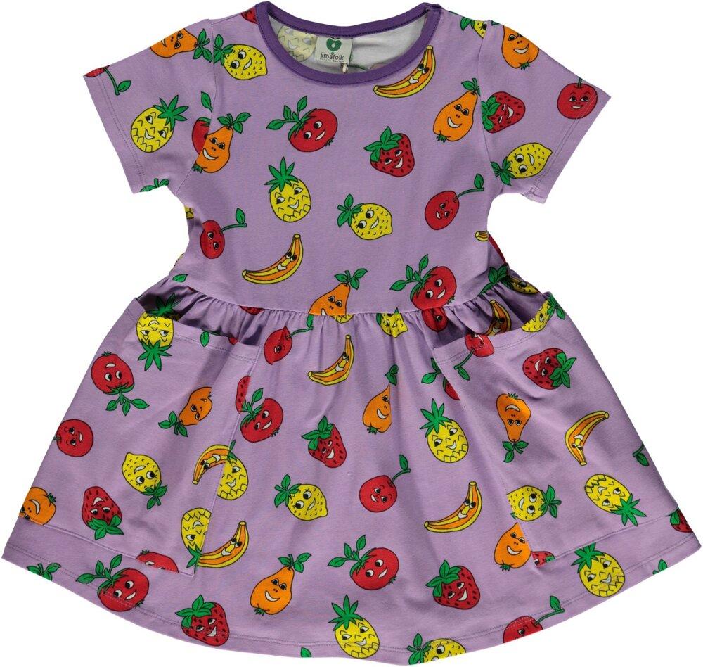 Småfolk Kjole med Frugt - 611 - Kjoler/Nederdele - Småfolk
