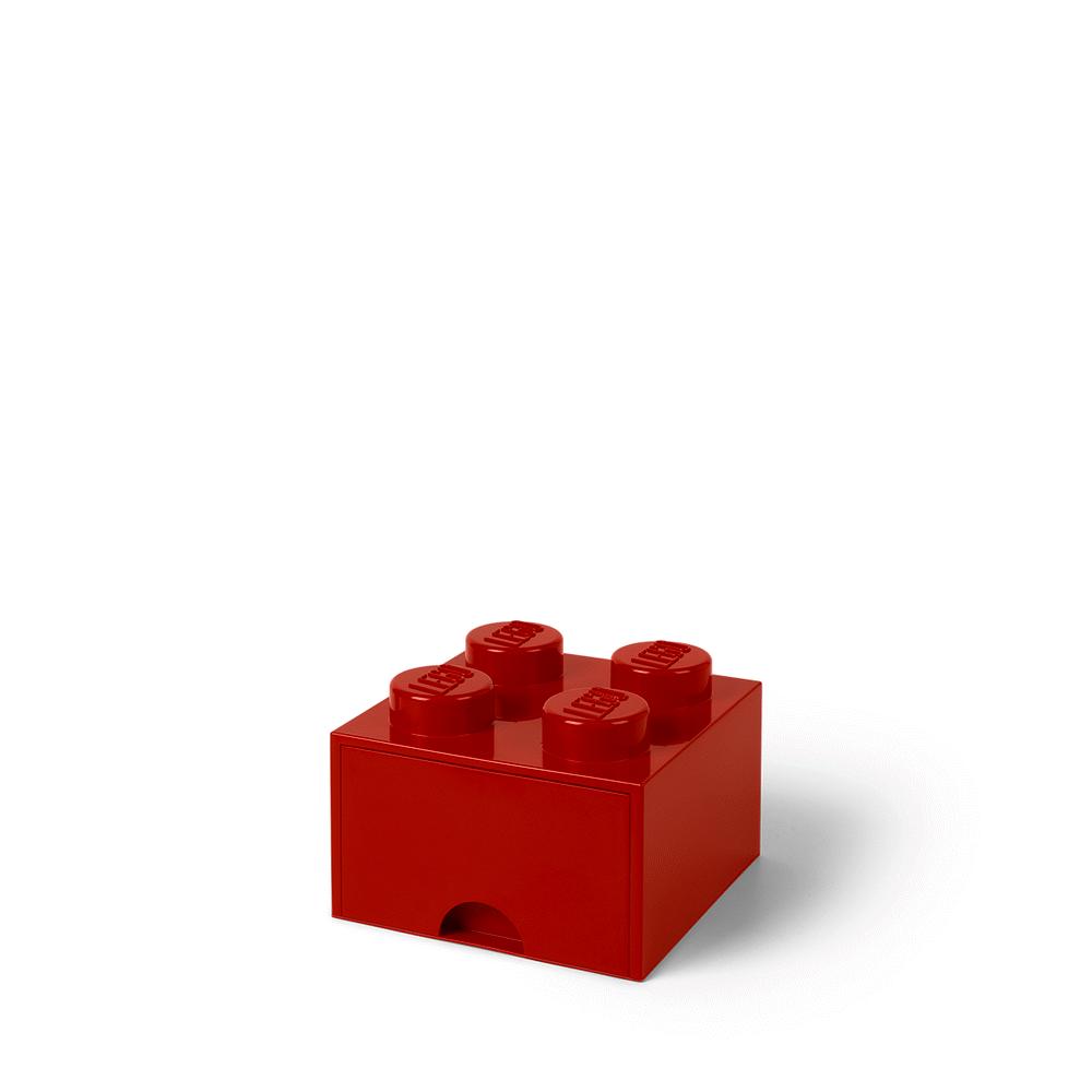 LEGO Storage LEGO Opbevaringsskuffe Brick 4 - Bright Rød - Opbevaring - LEGO Storage