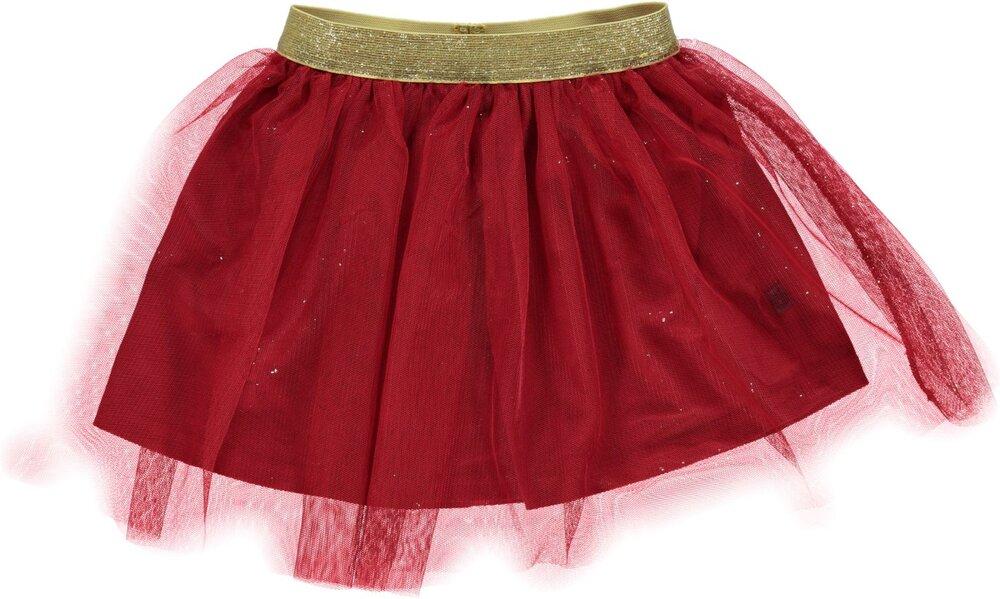 Småfolk Tyl Nederdel - 520 Dark Red - Kjoler/Nederdele - Småfolk