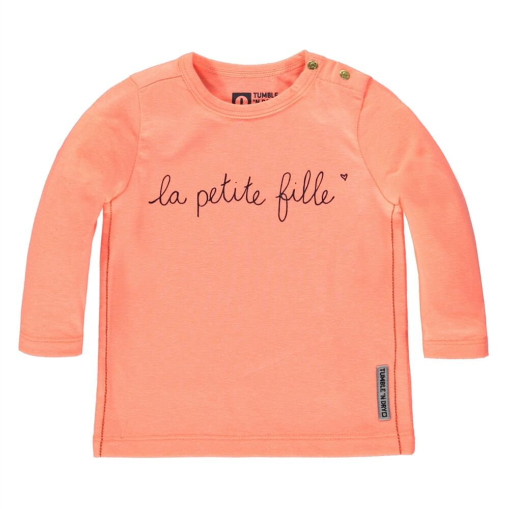 Image of Tumble´n Dry Roselands Langærmet T-Shirt - Orange Salmon (357837f9-4641-4c7c-964b-796f4d064fbd)