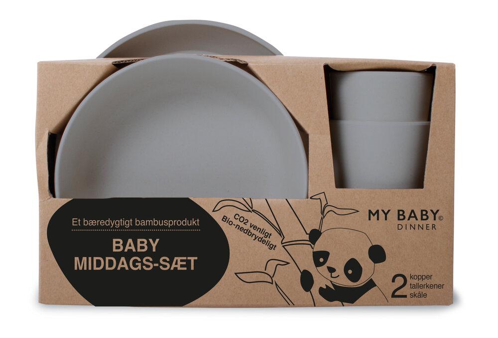 Image of   BeKids Bambus Gavesæt - Grå