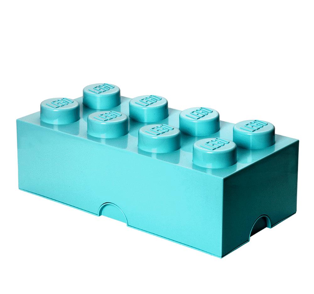 LEGO Storage Lego Opbevaringskasse 8 - Aqua Blå - Opbevaring - LEGO Storage