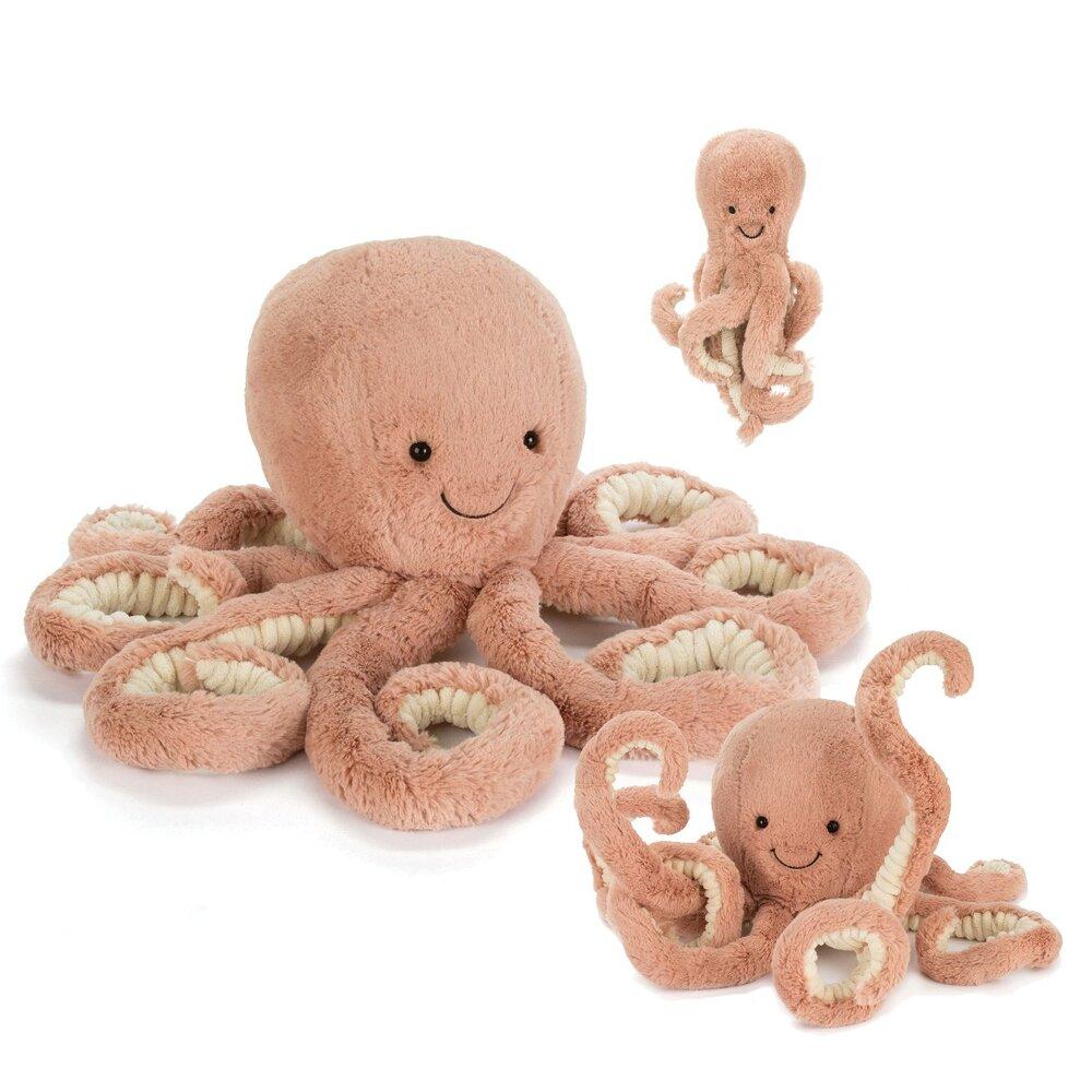 JellyCat Odell blæksprutte, baby